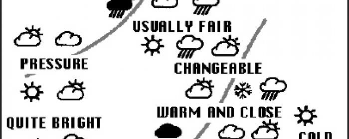 A Conversation about the Weather poster