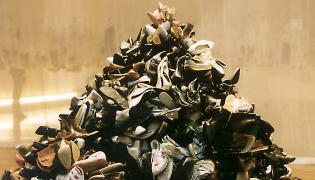 Museum - other people's shoe pile